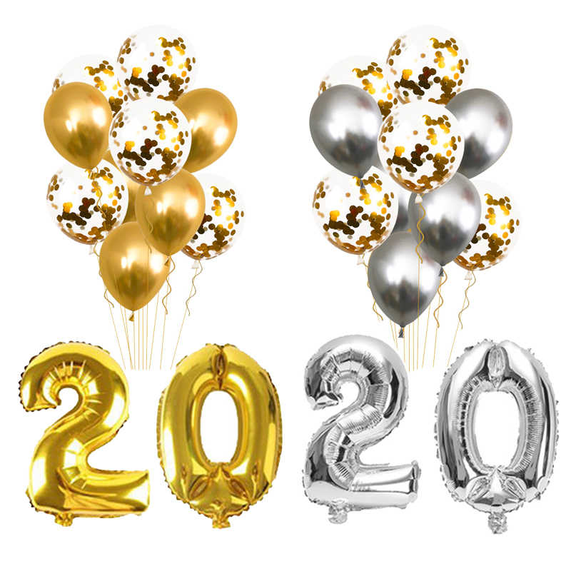 Merry Christmas Images In Gold And Silver 2020 Navidad 2020 Happy New Year Gold Foil Balloons Merry Christmas