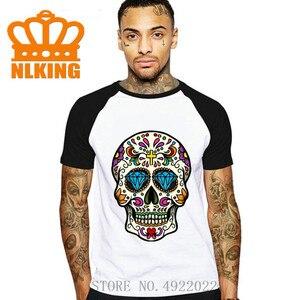 2020 модные летние мексиканский сахарный футболка с надписями и рисунком в виде черепа; Новинка для мужчин футболка Hipster Классические привлек...