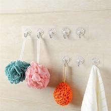 Drop shipping New Load Bearing 10KG Seamless Adhesive Hook Waterproof Transparent Strong Stick Kitchen Bathroom Wall Hanger