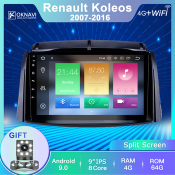 OKNAVI for Renault Koleos 2009-2016 2din 2 Din Android Autoradio Auto Radio 9 Inch Touch Screen Bluetooth FM Stereo Accessories image
