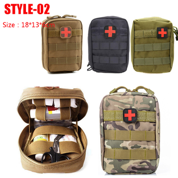 Hunting Survival First Aid Bag Outdoor SOS Pouch Army Tactical Waist Bag Medical Kit Bag Molle Belt Backpack EDC Emergency Pack 3