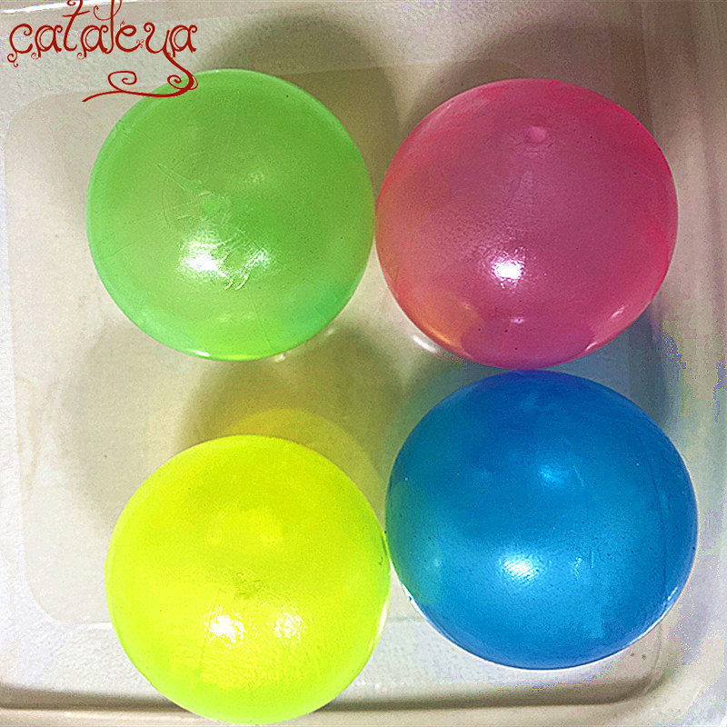 Cateleya Parent-Child Interaction The Same Fidget Toys Luminous Decompression Ceiling Sticky Wall Ball
