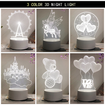 Newest Acrylic The neon lights 3D stereo Night light Small table lamp Bedside lamp LED lamp Birthday festival children decorate bedroom study 3d light night light festival usb small table lamp originality acrylic atmosphere lamp gift decorate bedside lamp