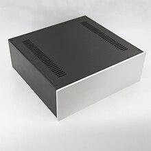 KYYSLB 430*150*408 مللي متر مكبر للصوت هيكل الإسكان لتقوم بها بنفسك صندوق الضميمة 4315C جميع الألومنيوم علبة مكبر كهربائي قذيفة مع اللوفرات