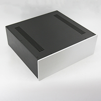 KYYSLB 430*150*408MM Amplifier Chassis Housing DIY Box Enclosure 4315C All Aluminum Power Amplifier Case Shell with Louvers