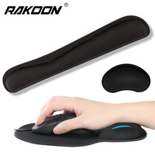 Mousepad ergonômico para computador portátil do computador do jogo do escritório do tipógrafo almofada do rato de rakoon com descanso do pulso do gel base antiderrapante