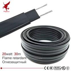 Cable calefactor ignífugo de 30m 220V W = 8mm de temperatura auto regulada protección de tuberías de agua techo deshielo cable calefactor