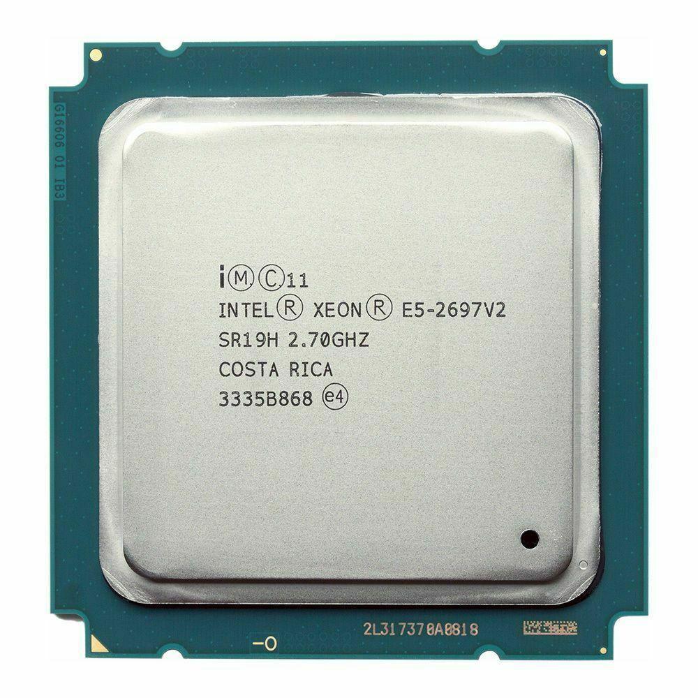 Intel Xeon LGA 2011  E5 2697 V2 Processor 2.7GHz 30M Cache SR19H E5-2697 V2 server CPU 1