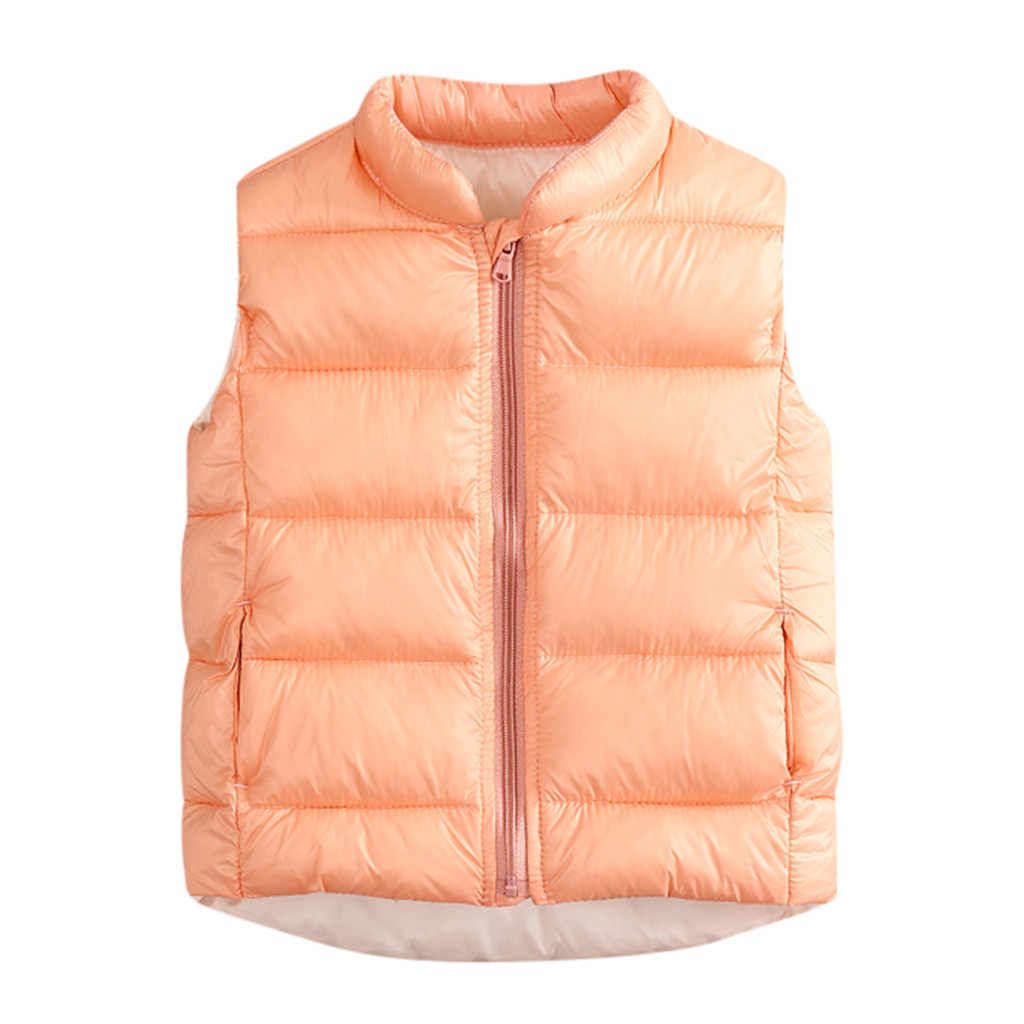 Peuter Kids Baby Grils Jongens kleding Effen kleur Vest Warm Baby Kleding Vest Uitloper winter meisjes Jas Dropshipping