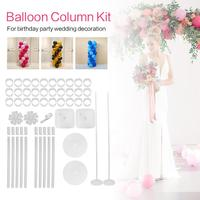 57pcs DIY Balloon Arch Kit Plastic Balloons Column Stand with Frame Base Pole and Ballon Clip for Birthday Wedding Holiday Party