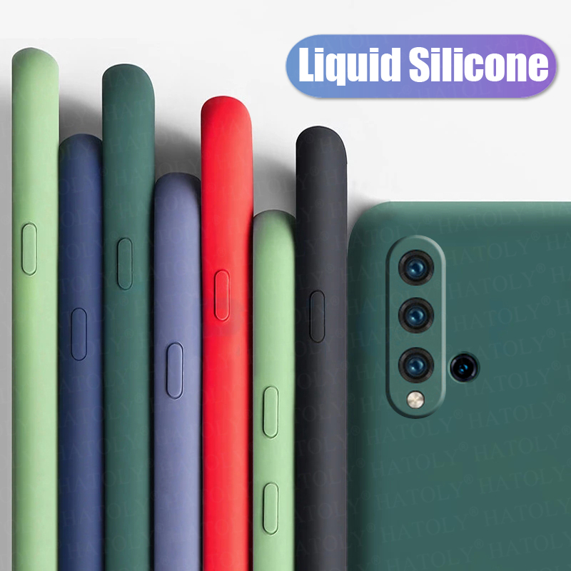For Huawei Nova 5T Case Cover Nova 5 T 6 7 SE Pro 2 3 3i 4 Soft Liquid Silicone Phone Bumper Case Solid Color Back Cover Nova 5T