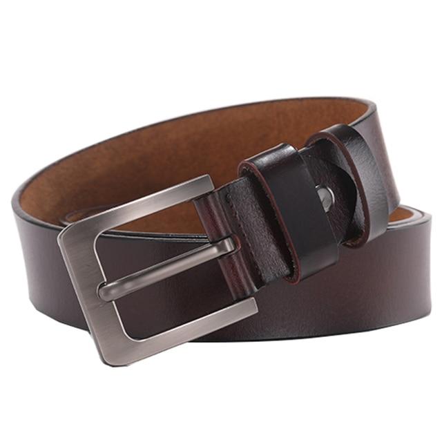 Retro Pin Genuine Leather Men's Leisure Belt 4