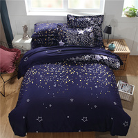 Star Nebula Series Bedding Sets Household Quilt Cover 2/3pcs Printing Duvet Cover Sets