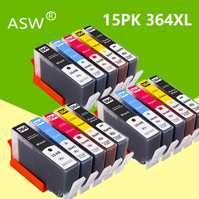 ASW 3set 364XL Compatible Ink Cartridges Replacement for <font><b>HP</b></font> <font><b>364</b></font> xl Deskjet 3070A 5510 6510 B209a C510a C309a Printer image