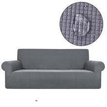Funda de sofá repelente al agua de calidad Universal elástica todo incluido Polar funda de cuadros sofá silla Europea loveseat