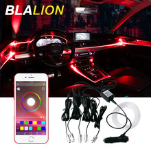 Auto Led Strip Verlichting Neon Lamp Interieur Verlichting Omgevingslicht App Controle Rgb Sfeer Lamp Voor Auto Home Party Auto backlight