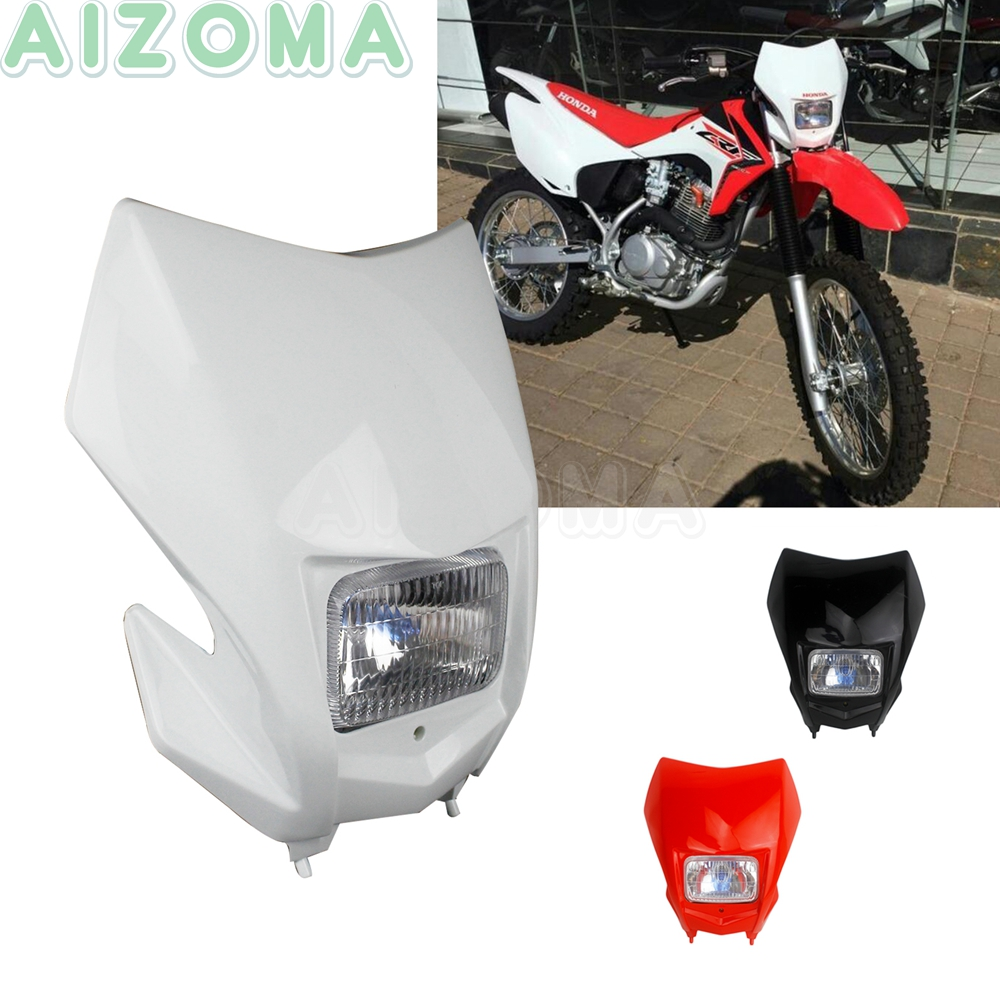 12V Racing Bike Motocross White Headlight MX Enduro Universal Headlamp For Honda CRF150F CRF230F 2015-2020 <font><b>CRF</b></font> CRM 125/250/<font><b>450</b></font> R image