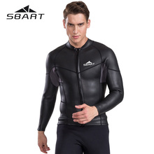 SBART 2mm Split Suit Wetsuit Men Long Sleeve Snorkeling Suit Surfing Cold Diving Jacket Warm Winter Swimming Jellyfish Clothing цена