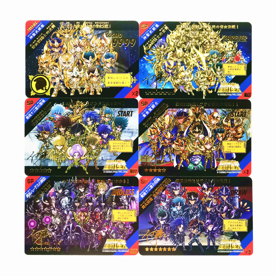 54pcs/set Saint Seiya Bronzing Process Toys Hobbies Hobby Collectibles Game Collection Anime Cards