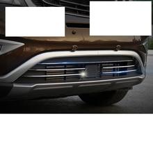 Lsrtw2017 нержавеющая сталь автомобиля средняя сетка Передняя решетка Планки для Geely Boyue Atlas интерьер молдинги аксессуары