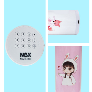 Image 5 - NBX Stationery Box Coded Lock Newmebox Password Pencil Case Cartoon Pattern Pen Holder Large Capacity Home Office School Storage