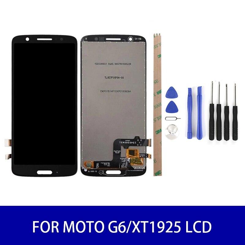 Original Para Motorola Moto G6/XT1925 Painel Lcd Screen Display Toque Digitador Assembléia peças de Reposição de Tela 2160*1080