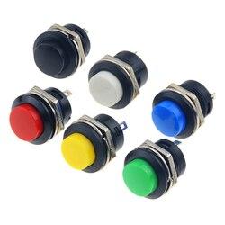 6PCS R13-507 16MM Self Return Momentary Push Button Switch 6A/125VAC 3A/250VAC