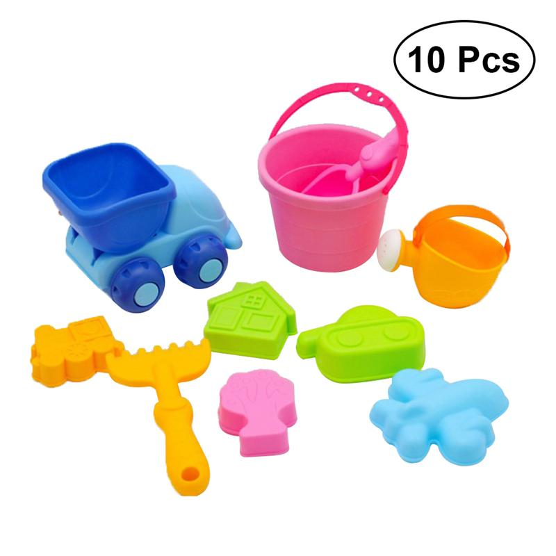 10Pcs Children Summer Toys Water Toys Beach Buggy Beach Bucket Funny Kids Toys Gifts