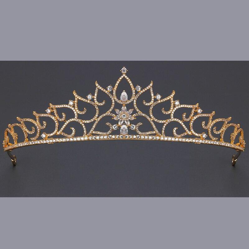 Mariée européenne couronne robe de mariée coiffure accessoires mariage fiançailles bijoux