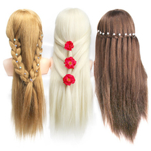 New Mannequin Head With 60% Animal Hair Training for Hairdressers Practice Shoulder Beauty Tools
