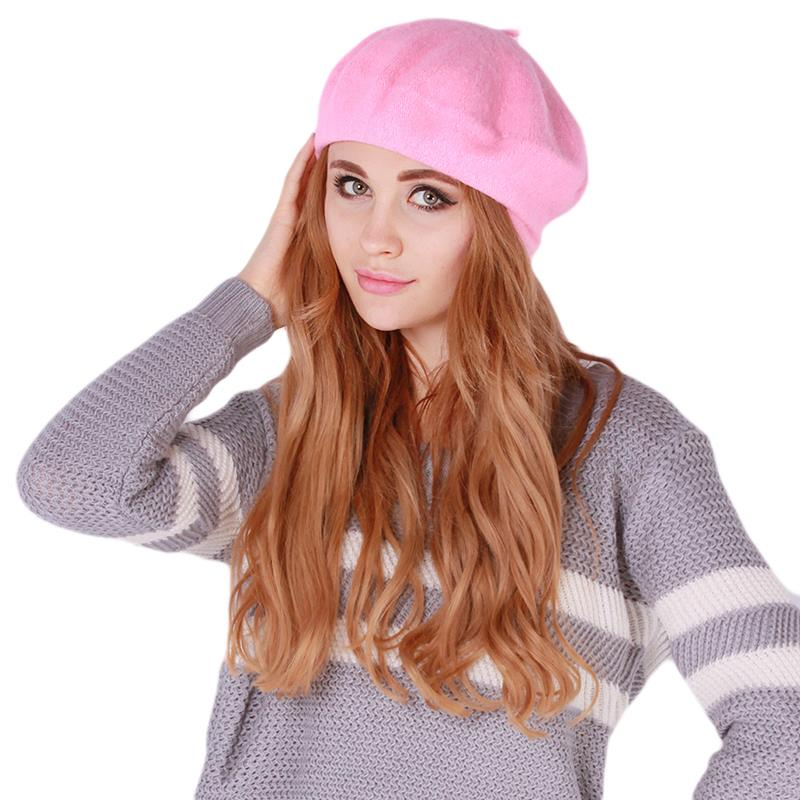 Yeni sonbahar & kış kadın yumuşak sıcak klasik bere Boina Feminina keçe fransız sanatçı kasketleri Tam Baggy şapka kayak kapaklar sıcak satış