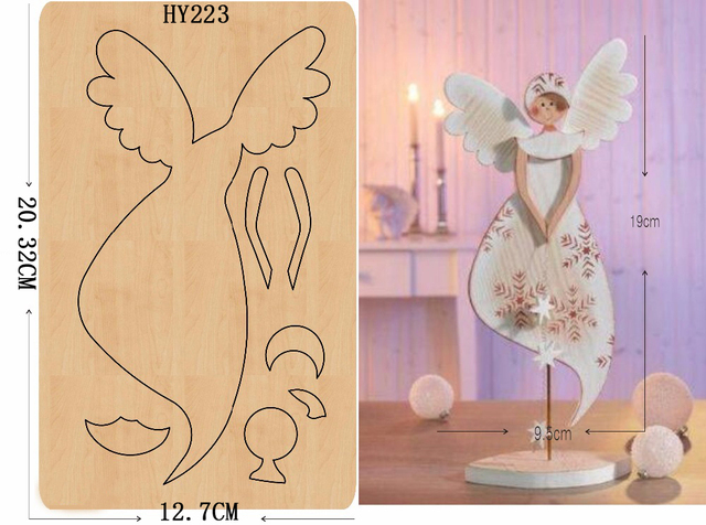 ملاك الجمال لتقوم بها بنفسك قالب خشبي/أداة قطع يموت/سجل القصاصات mold2019