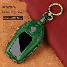 Luxury Genuine Leather Car Key Case for BMW 5 7 series G11 G12 G30 G31 G32 i8 I12 I15 G01 X3 G02 G05 X5 G07 Display Key Chain