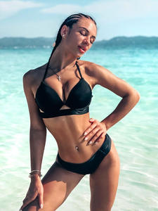 Andzhelika Swimsuit Bikini Bandage Push-Up Low-Waist HALTER Women