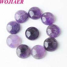 Ametistas solta pedras gema redonda cabochon contas de pedra natural cura grânulo apto para mulheres homens diy jóias artesanais 50 pçs pu8228