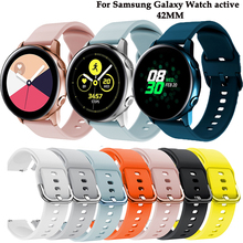 20mm Soft Silicone Watch Band for Samsung Galaxy Watch 42mm