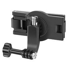 Para acessórios da câmera dos esportes da ação do bolso de osmo, grampo fixo da mochila da correia para gopro9 hero9/hero8
