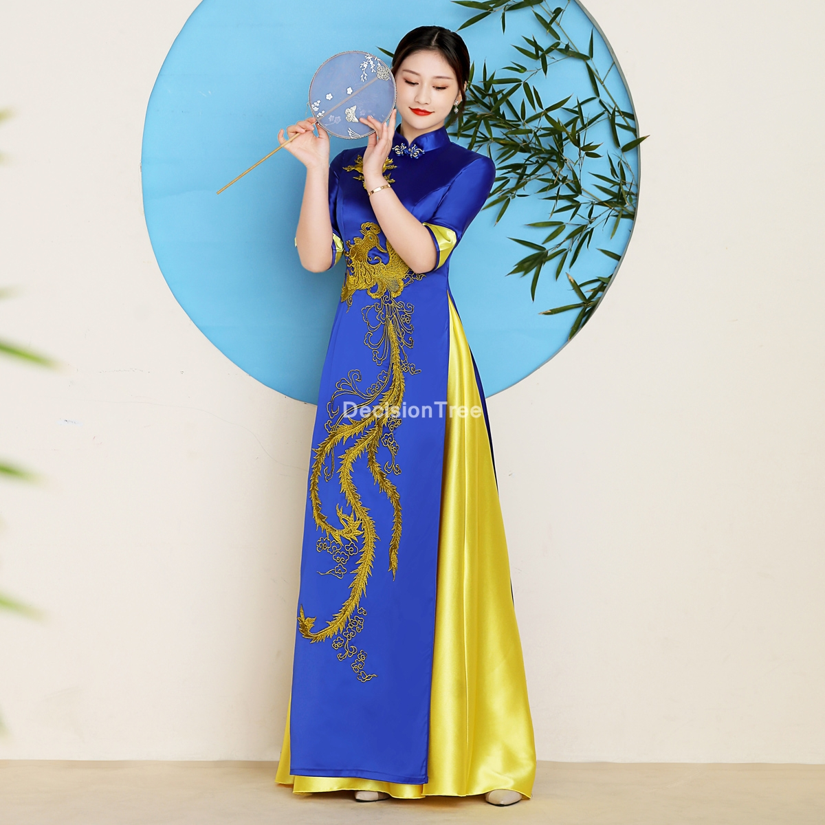 2021 woman aodai vietnam traditional clothing vietnam dress flower embroidery  aodai dress improved cheongsam ethnic style dress