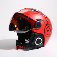 2019 New Ski Helmet Goggles Unisex Men Women Snowboard Helmet Moto Snowmobile Skateboard Safety Helmet Mask Winter Warm Fleece C