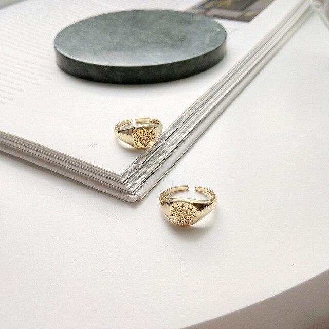 Фото женские винтажные открытые кольца leouerry из серебра 925 пробы цена