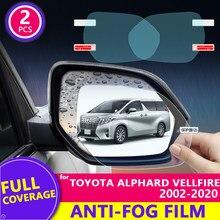 Capa completa anti nevoeiro filme à prova de chuva para toyota alphard vellfire 10 20 30 2002 ~ 2018 carro espelho retrovisor película protetora 2016 2017