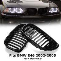 2 pçs gloss preto frente do carro rim grille grill para bmw e46 lci 4d 325i facelift 2002 2003 2004 2005|Grades de corrida| |  -