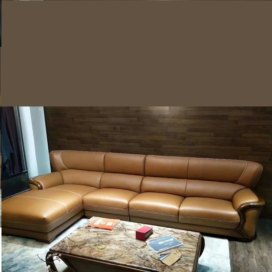 - New Design Home Genuine Leather Sofa Real Skin Leather Sofa Conner