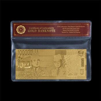 Billete de alta Calidad AAA WR 2019 de Indonesia de 100 000 para Conmemoración del hogar con marco COA, regalo para un amigo