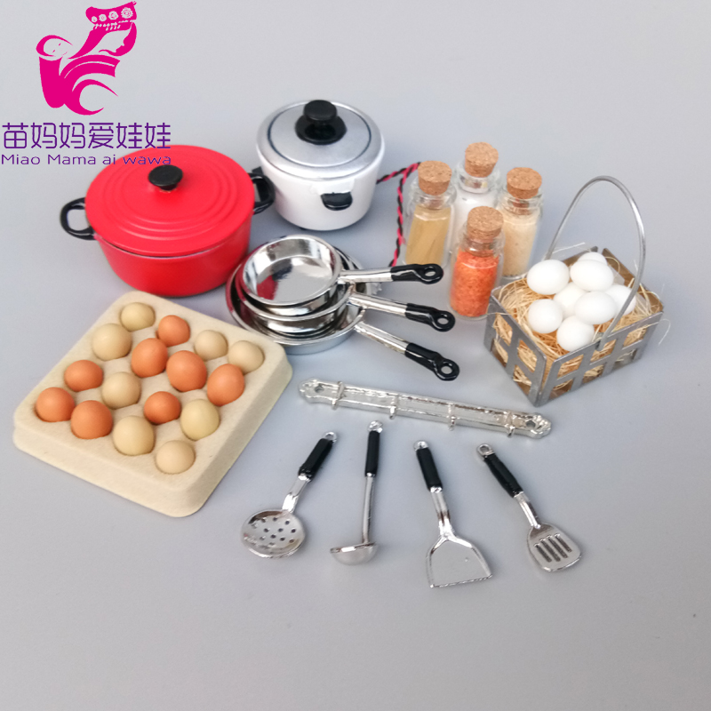 Mini Food Kitchen Pots Spatula Model Charm Juice For Doll House Mininature Accessories For Barbie Blythe Doll