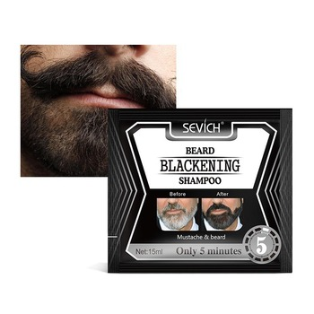 5pcs Beard Blackening Shampoo Natural Without Stimulation Dyed Beard Shampoo Beard Care Q1 1