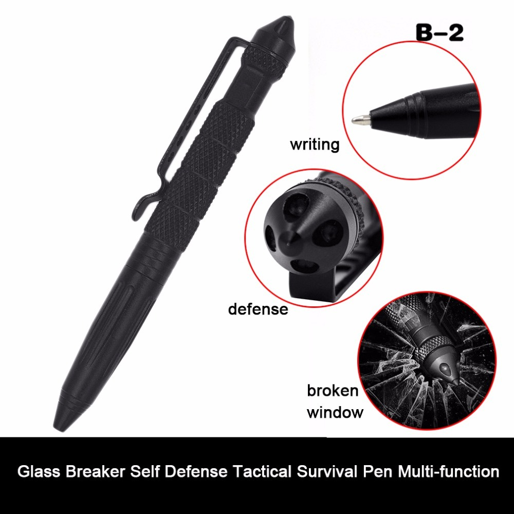 Practical Tactical Pens EDC Aluminum Glass Breaker Self Defense Tactical Survival Pen Multi-function Camping Tool For Writing