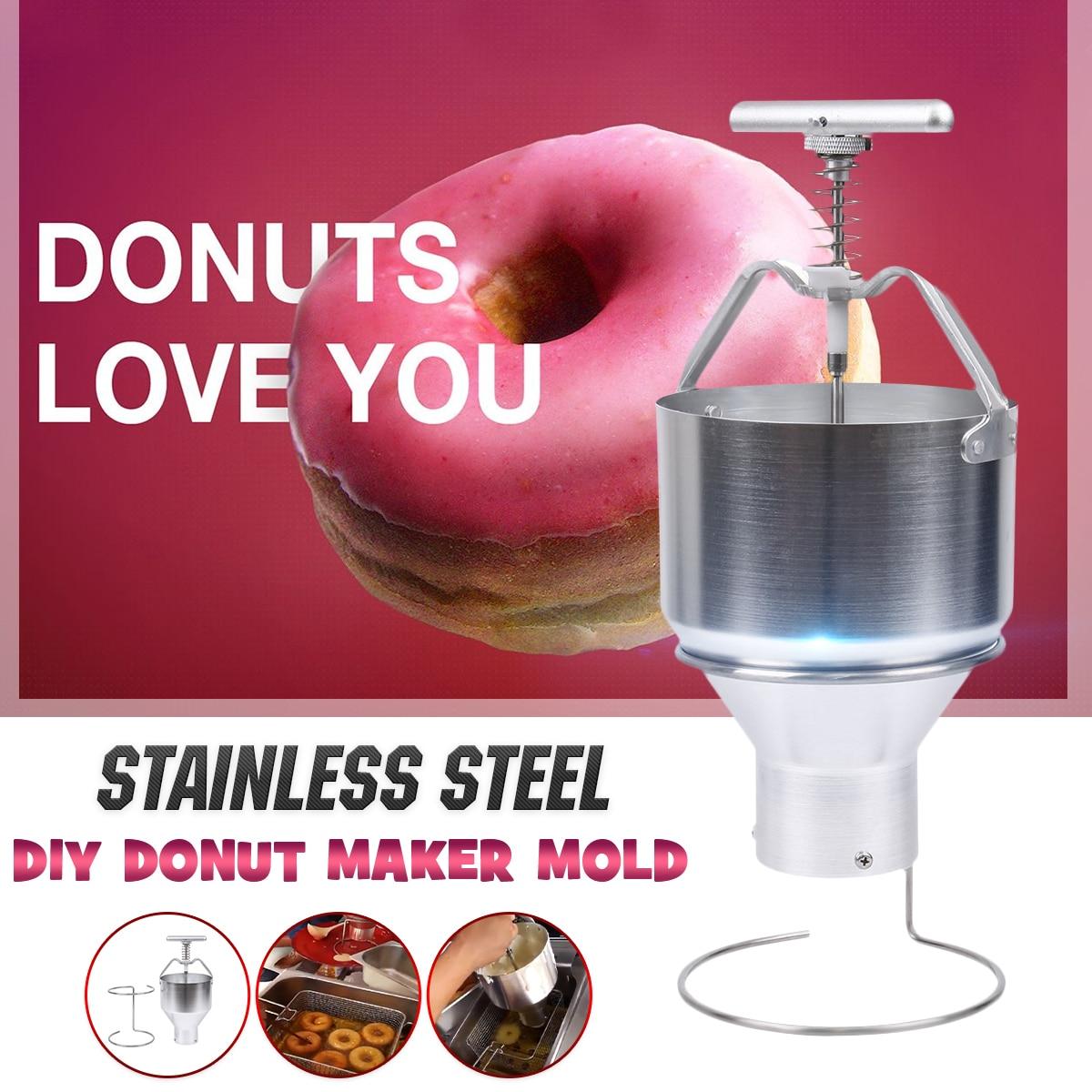 Manual Donut Depositor Dropper Plunger Dough Batter Dispenser Hopper Home