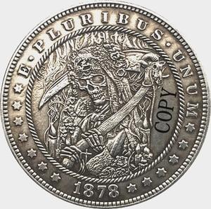 Hobo Nickel 1878-CC USA Morgan Dollar COIN COPY Type 162(China)