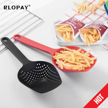 1PCS Kitchen Scoop Colander Home Spoon Strainers Noodles Vegetable French Fries Forks Cooking Shovels Pasta Filter Tools